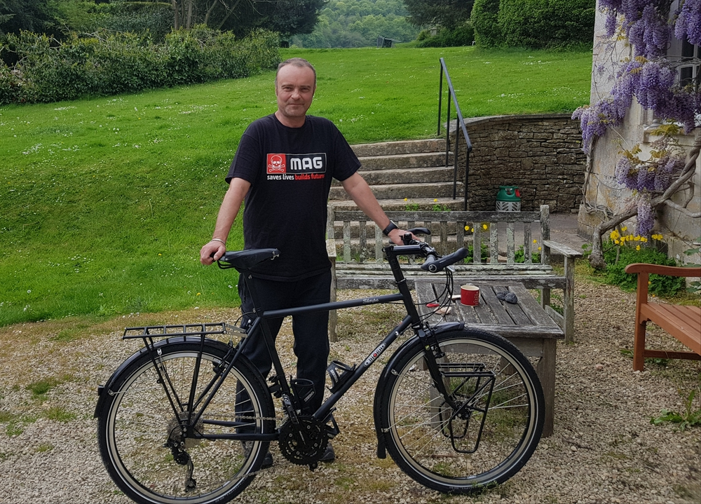 Simon Bennett with his trusty bike