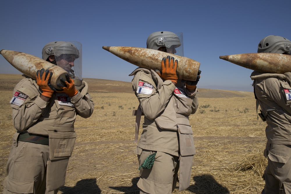 MAG teams clearing the deadly legacy of conflict in Iraq